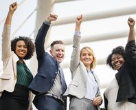 Group of People Raising Right Hand royalty free stock photography