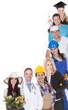 Group of people representing diverse professions Royalty Free Stock Photo