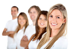 Group of people in a row Stock Photo