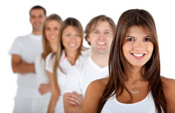 Group of people in a row Stock Photos