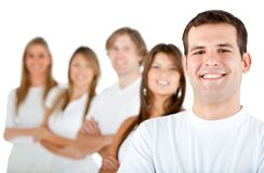 Group of people in a row Royalty Free Stock Photos
