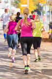 Group of people running. Royalty Free Stock Images