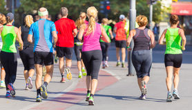 Group of people running. Royalty Free Stock Photos