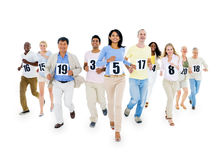 Group of people running race Concept.  Stock Images