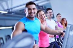 Group of people running on treadmills Stock Photography