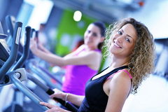 Group of people running on treadmills Royalty Free Stock Photography