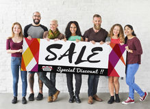 Group of People Sales Promotion Special Discount Concept royalty free stock image