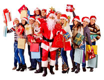Group people and  Santa Royalty Free Stock Photography