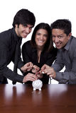 Group of people saving money Stock Image