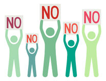 Group of people saying No Royalty Free Stock Photo
