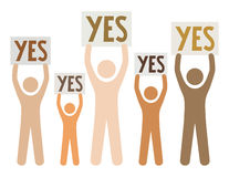 Group of people saying yes. Group of different people saying yes Royalty Free Stock Images