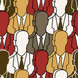 Group people - seamless pattern Stock Photography