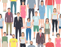 Group of people seamless pattern Royalty Free Stock Images