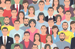 Group of people seamless pattern Stock Photography