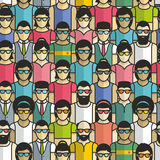 Group of people seamless pattern Stock Image