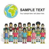 Group of people seamless pattern Stock Photo