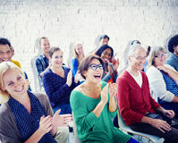 Group of People in Seminar stock photos