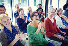 Group of People in Seminar Concept Stock Image