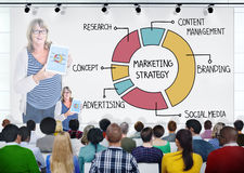 Group of People in Seminar with Marketing Strategy Stock Images