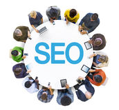 Group of People and SEO Concept Stock Photos