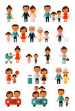 Group of people set Stock Images