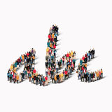 Group people shape alphabet letters Royalty Free Stock Photography