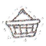 Group people shape  basket Stock Photo