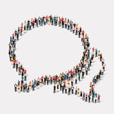 Group  people shape  chat bubbles Stock Image