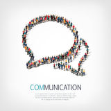 Group people shape chat bubbles royalty free illustration
