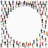 Group  people  shape   circle Stock Images