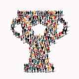 Group  people shape  cup reward Royalty Free Stock Images