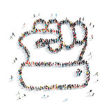 Group  people  shape  fist isolated Royalty Free Stock Images