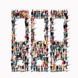 Group  people  shape  folders Royalty Free Stock Photography