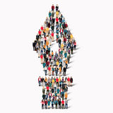 Group  people shape  fountain pen Royalty Free Stock Photo