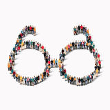 Group people  shape  glasses Stock Images