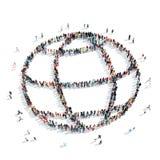 group  people shape  globe Royalty Free Stock Image
