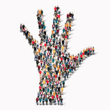 Group  people  shape  hand. Royalty Free Stock Images