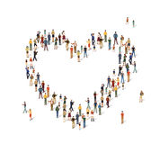 Group of people in the shape of a heart Royalty Free Stock Photos