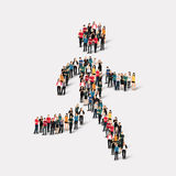 Group  people shape  man Stock Image