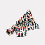 Group people  shape  mouthpiece. Large group of people in the shape of  mouthpiece . Vector illustration Stock Image