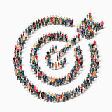 Group  people  shape  target goal Royalty Free Stock Photography