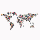 Group  people  shape  world map Stock Images