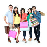 Group of people shopping Royalty Free Stock Photos