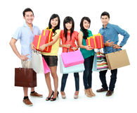 Group of people shopping Royalty Free Stock Images