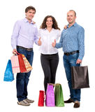 Group of people with shopping bags Royalty Free Stock Photography