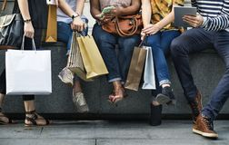 Group Of People Shopping Concept stock photography