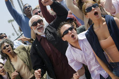 Group Of People Shouting. Group of multiethnic people shouting together Stock Photography