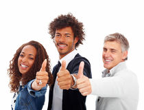Group of people showing success sign Stock Images