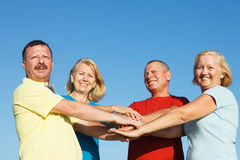 Group of People showing unity. Stock Images