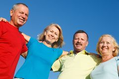 Group of people showing unity. royalty free stock photos